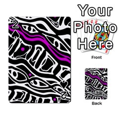 Purple, black and white abstract art Playing Cards 54 Designs