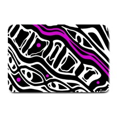 Purple, black and white abstract art Plate Mats