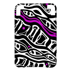 Purple, black and white abstract art Kindle 3 Keyboard 3G