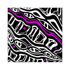 Purple, black and white abstract art Acrylic Tangram Puzzle (6  x 6 )