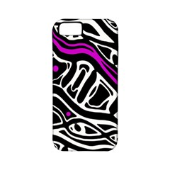 Purple, black and white abstract art Apple iPhone 5 Classic Hardshell Case (PC+Silicone)