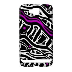 Purple, black and white abstract art Samsung Ativ S i8750 Hardshell Case