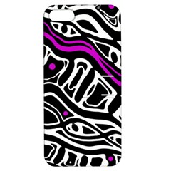 Purple, black and white abstract art Apple iPhone 5 Hardshell Case with Stand