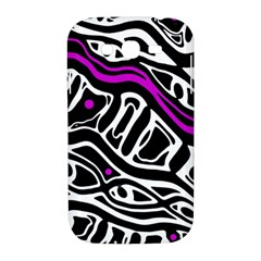 Purple, black and white abstract art Samsung Galaxy Grand DUOS I9082 Hardshell Case