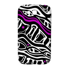 Purple, black and white abstract art Samsung Galaxy Grand GT-I9128 Hardshell Case