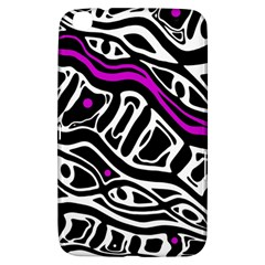Purple, black and white abstract art Samsung Galaxy Tab 3 (8 ) T3100 Hardshell Case
