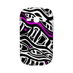 Purple, black and white abstract art Samsung Galaxy S6810 Hardshell Case