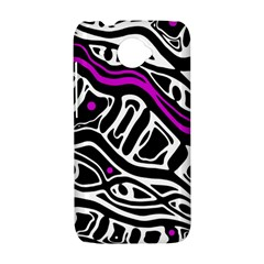 Purple, black and white abstract art HTC Desire 601 Hardshell Case
