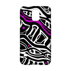 Purple, black and white abstract art Samsung Galaxy S5 Hardshell Case