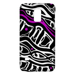 Purple, black and white abstract art Galaxy S5 Mini
