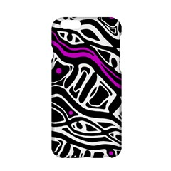 Purple, black and white abstract art Apple iPhone 6/6S Hardshell Case