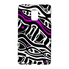 Purple, black and white abstract art Galaxy Note Edge
