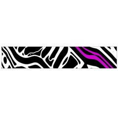 Purple, black and white abstract art Flano Scarf (Large)