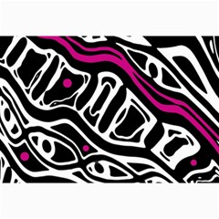 Magenta, black and white abstract art Collage Prints