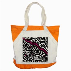 Magenta, black and white abstract art Accent Tote Bag