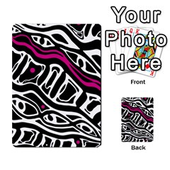 Magenta, black and white abstract art Multi-purpose Cards (Rectangle)