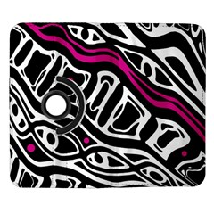 Magenta, black and white abstract art Samsung Galaxy Note II Flip 360 Case