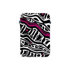 Magenta, black and white abstract art Apple iPad Mini Protective Soft Cases