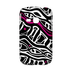 Magenta, black and white abstract art Samsung Galaxy S6310 Hardshell Case