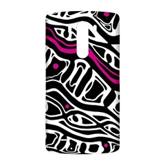 Magenta, black and white abstract art LG G3 Back Case