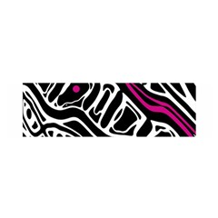 Magenta, black and white abstract art Satin Scarf (Oblong)