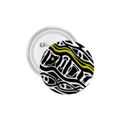 Yellow, black and white abstract art 1.75  Buttons