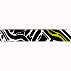 Yellow, black and white abstract art Small Bar Mats