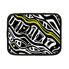Yellow, black and white abstract art Netbook Case (Small)