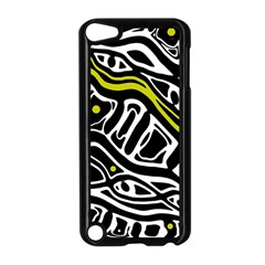 Yellow, black and white abstract art Apple iPod Touch 5 Case (Black)