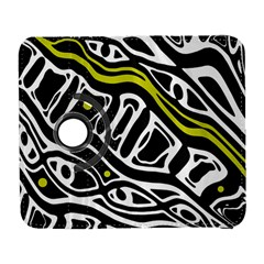 Yellow, black and white abstract art Samsung Galaxy S  III Flip 360 Case