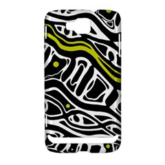 Yellow, black and white abstract art Samsung Ativ S i8750 Hardshell Case