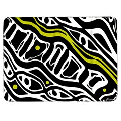 Yellow, black and white abstract art Samsung Galaxy Tab 7  P1000 Flip Case