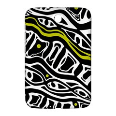 Yellow, black and white abstract art Samsung Galaxy Note 8.0 N5100 Hardshell Case