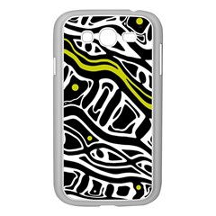 Yellow, black and white abstract art Samsung Galaxy Grand DUOS I9082 Case (White)