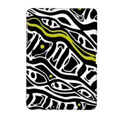 Yellow, black and white abstract art Samsung Galaxy Tab 2 (10.1 ) P5100 Hardshell Case
