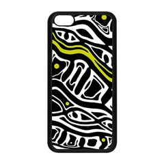 Yellow, black and white abstract art Apple iPhone 5C Seamless Case (Black)