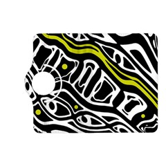 Yellow, black and white abstract art Kindle Fire HD (2013) Flip 360 Case