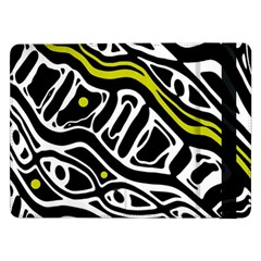 Yellow, black and white abstract art Samsung Galaxy Tab Pro 12.2  Flip Case