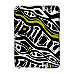 Yellow, black and white abstract art Amazon Kindle Fire (2012) Hardshell Case