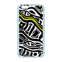 Yellow, black and white abstract art Apple Seamless iPhone 6/6S Case (Color)