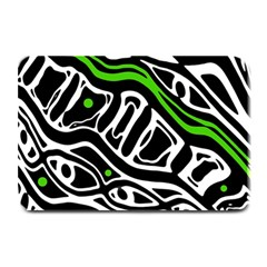 Green, Black And White Abstract Art Plate Mats