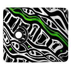 Green, black and white abstract art Samsung Galaxy Note II Flip 360 Case