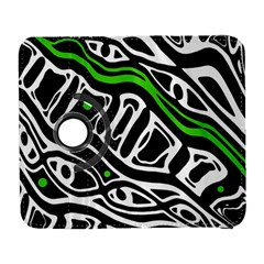 Green, black and white abstract art Samsung Galaxy S  III Flip 360 Case
