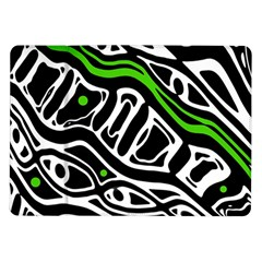 Green, black and white abstract art Samsung Galaxy Tab 10.1  P7500 Flip Case