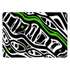 Green, black and white abstract art Samsung Galaxy Tab 8.9  P7300 Flip Case