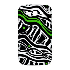 Green, black and white abstract art Samsung Galaxy Grand DUOS I9082 Hardshell Case