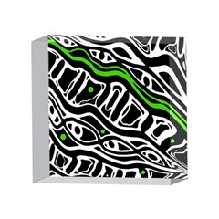 Green, black and white abstract art 4 x 4  Acrylic Photo Blocks