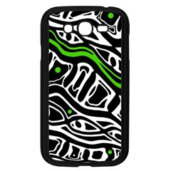 Green, black and white abstract art Samsung Galaxy Grand DUOS I9082 Case (Black)