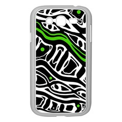 Green, black and white abstract art Samsung Galaxy Grand DUOS I9082 Case (White)