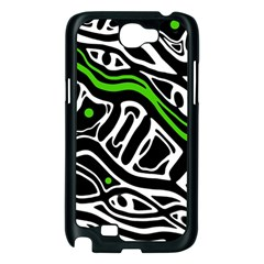 Green, black and white abstract art Samsung Galaxy Note 2 Case (Black)